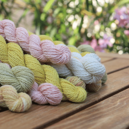 Luster Sock DK mini skein set naturally dyed